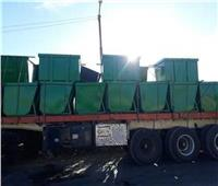 توزيع عدد من حاويات القمامة بقرى مغاغة في المنيا