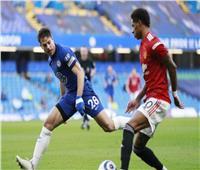 الشوط الأول| التعادل السلبي يسيطر بين تشيلسي ومانشستر يونايتد