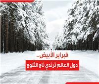 فيديوجراف| «فبراير الأبيض».. دول العالم ترتدي تاج الثلوج