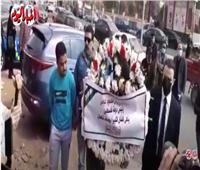 الرئيس الفلسطيني يرسل باقة ورد وبرقية نعي في جنازة يوسف شعبان| فيديو