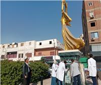 صور | تجميل أشهر ميادين نجع حمادي.. وهذه قصته