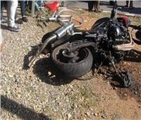 إصابة عامل في انقلاب دراجة نارية بالمنيا