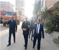 نائب محافظ الجيزة يتفقد مناطق ترعة العياط والرشاح وطريق المنصورية