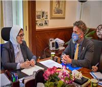 وزيرة الصحة و«اليونيسف» يبحثان تحسين الوجبات المدرسية للطلاب