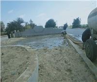 رفع 20 طن مخلفات وقمامة من قرى المنيا