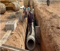 متابعة أعمال مشروع الصرف الصحي بقرى «قورتة» في أسوان