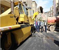 محافظ المنوفية يتابع أعمال رصف شوارع حي غرب شبين الكوم