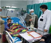 رئيس منطقة الدقهلية الأزهرية يتابع الحالة الصحية لطلاب حادث «الميكروباص»