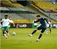 محمود وادي يسجل الهدف الثاني لبيراميدز في المصري
