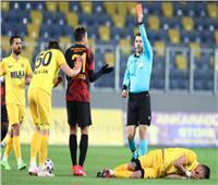 بعد طرد مصطفى محمد.. بيان من «جالاتا سراي» ضد حكم مباراة أنقرة
