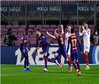 «ريمونتادا» برشلونة تسقط إشبيلية.. ويتأهل لنهائي الكأس| فيديو