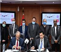 وزير الرياضة يوقع بروتوكول تعاون مع وكالة الفضاء المصرية