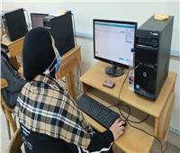 بدء الاختبارات الإلكترونية بكلية التمريض جامعة حلوان