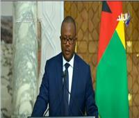 رئيس «غينيا بيساو» للسيسي: تذكرني بكفاح الراحل جمال عبد الناصر|فيديو