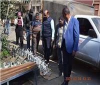 رئيس نظافة القاهرة يشكر العاملين بالورش الإنتاجية