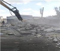 إزالة مبنى قديم بمجمع مواقف أبو المطامير في البحيرة