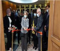 وزيرة الثقافة والغضبان يفتتحان قاعة «فايزة أبوالنجا» بديوان «بورسعيد»