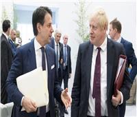 رئيسا الوزراء الإيطالي والبريطاني يبحثان سبل مكافحة كورونا