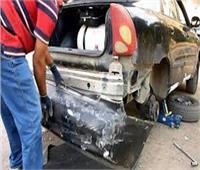 إصابة 4 أشخاص وتهشم سيارة أتوبيس في مشاجرة بالخليفة