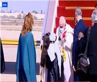 لحظة وصول بابا الفاتيكان إلى بغداد.. فيديو