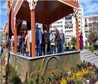 وزيرة الثقافة ومحافظ بورسعيد وهاني شاكر يتفقدون «حديقة فريال التاريخية»