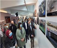 وزيرة الثقافة ومحافظ بورسعيد يتفقدان متحف النصر للفنون التشكيلية
