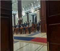 وصول رئيس الورزاء ورئيس مجلس الشيوخ عزاء الفريق كمال عامر