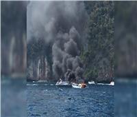 نشوب حريق داخل سفينة روسية على متنها 30 صيادًا في بحر اليابان