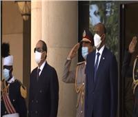 بالسلام الجمهوري.. بدء مراسم استقبال الرئيس السيسي في السودان