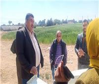 معاون وزير الزراعة يتفقد المزرعة النموذجية بقرية 8 بالمنيا