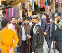 استمرار حملات تمشيط السوق السياحي لرفع الإشغالات المخالفة بأسوان