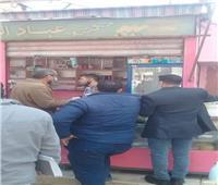 رفع 37 حالة إشغال طريق وتحرير محاضر للمخالفين بالمنيا | صور