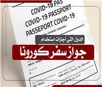 إنفوجراف| دول أجازت استخدام «جواز سفر كورونا»