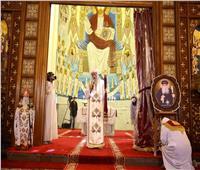 البابا تواضروس يترأس قداس ذكرى المتنيح الأنبا صرابامون