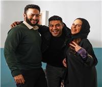محمد عز في كواليس «المداح» مع حمادة هلال