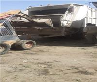 محافظة الجيزة تستجيب لشكوى مواطن من تراكم القمامة بقرية سقارة
