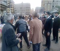 حمله مكبرة لرفع الإشغالات من ميدان المحطة بـ«المحلة»