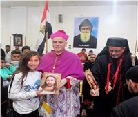 السفير البابوي يزور كنائس ايبارشية أبوقرقاص