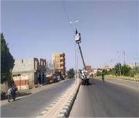 حملات إنارة وإشغال طريق في الهرم وأوسيم والواحات