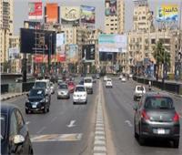 الحالة المرورية  انتظام حركة السيارات بطرق ومحاور القاهرة والجيزة
