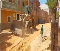 صور| رصف طريق «سوادة» وتوصيل الغاز الطبيعي بـ«بني أحمد» في المنيا