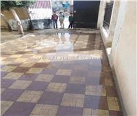 «مدرسة قومبانية لوقين» غارقة في مياه الصرف الصحي | صور