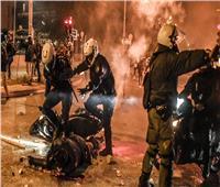 اشتباكات بين الشرطة اليونانية ومتظاهرين بضواحي أثينا