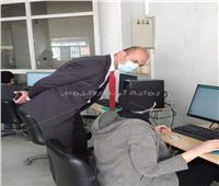بدء الاختبارات الإلكترونية بكلية الصيدلة جامعة حلوان