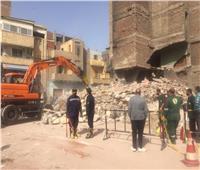 انهيار منزل غير مأهول بالسكان بالإسماعيلية | صور