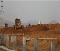 فودة يواصل متابعة تطوير الطريق الدائري الجديد بشرم الشيخ
