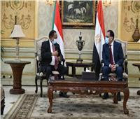 شاهد| رئيس الوزراء يستقبل نظيره السوداني