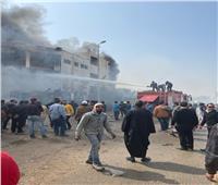 الحماية المدنية بالجيزة تساهم في إطفاء حريق مصنع ملابس العبور