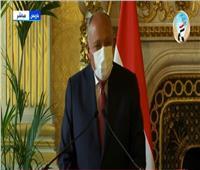 وزير الخارجية: نأمل في تكاتف المجتمع الدولي لإنهاء الصراع الفلسطيني الإسرائيلي