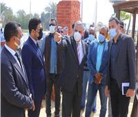 محافظ سوهاج يتفقد أعمال إنشاء مشروع «شارع مصر» بالكورنيش الشرقي